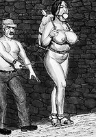 Shake those fat udders, slave - Prison camp by Badia