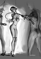 BDSM drawings - Hard humping whore by Agan Medon